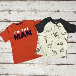 Boys T-shirt Set Jumping Bean & Carters Size 6